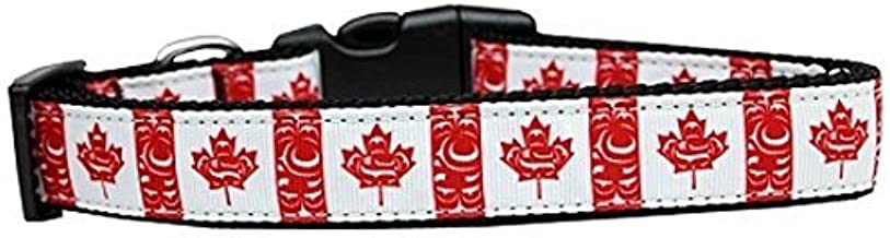 Mirage Pet Products Canadian Flag in Swirls Nylon Dog Collar Large by Mirage Pet Products