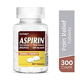 HealthA2Z Aspirin 325mg, 300 Count, Uncoated,Compare to Bayer® Active Ingredients 20 Made In USA / Compare to Bayer active ingredient. It is used to reduce fever and relieve mild to moderate pain from conditions such as muscle aches, toothaches, common cold, and headaches. It may also be used to reduce pain and swelling in conditions such as arthritis.