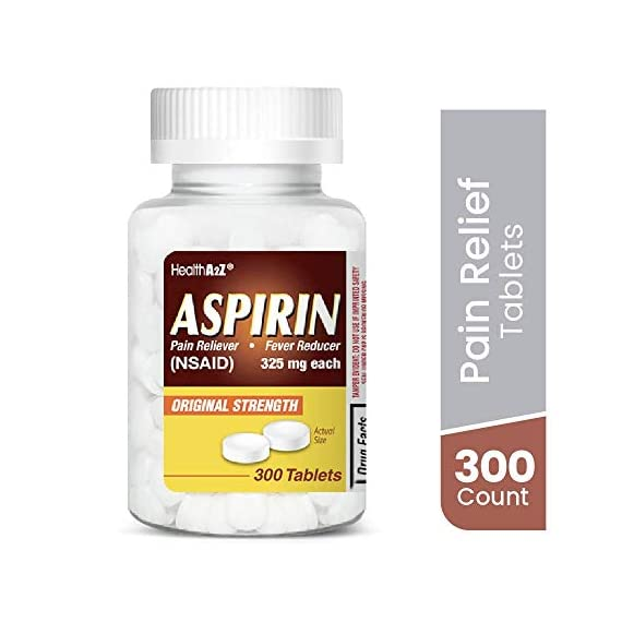 HealthA2Z Aspirin 325mg, 300 Count, Uncoated,Compare to Bayer® Active Ingredients 1 Made In USA / Compare to Bayer active ingredient. It is used to reduce fever and relieve mild to moderate pain from conditions such as muscle aches, toothaches, common cold, and headaches. It may also be used to reduce pain and swelling in conditions such as arthritis.