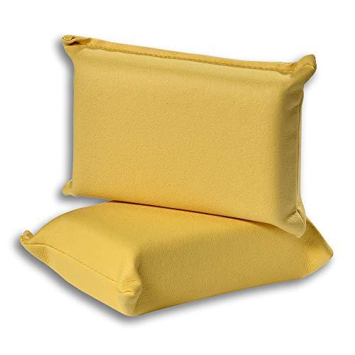 VDM Home Products Momba® AUTOSCHWAMM 2er Set - der Klassische Scheibenschwamm für das Auto! Hohe Saugfähigkeit. Professioneller Autofensterschwamm für streifenfreier Glanz