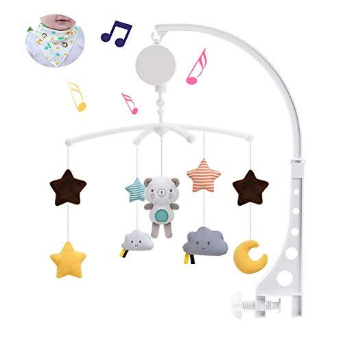 ZEHYRFGK Móvil De Cuna con Juguetes Giratorios Colgantes - Móvil De Cuna Musical para Bebés, Decoración De Cama Infantil para Niños Y Niñas Recién Nacidos, Regalo,A