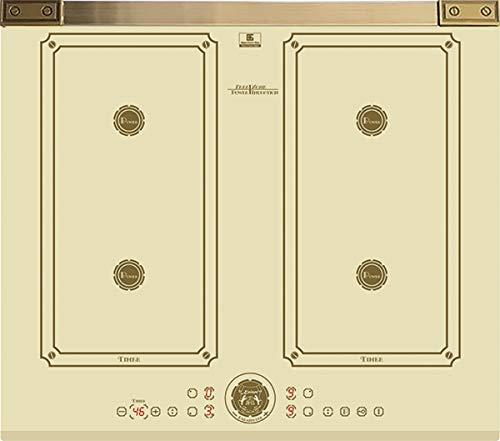 Kaiser KCT 6745 FI ElfAD- Plaque de cuisson à induction 60 cm/plaque à induction/plaques métalliques Bronze/vitrocéramique avec 4 plaques à induction