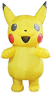 Pikachu Inflatable Costume Pokemon Halloween Cosplay Outfits Costume For Adult