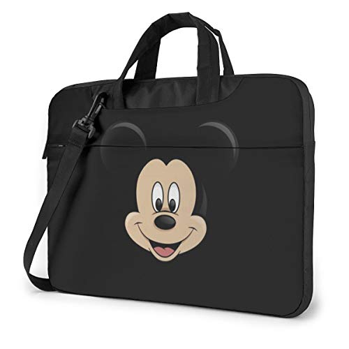 14 Inch Laptop Bag Mickey Mouse Head Laptop Briefcase Shoulder Messenger Bag Case Sleeve