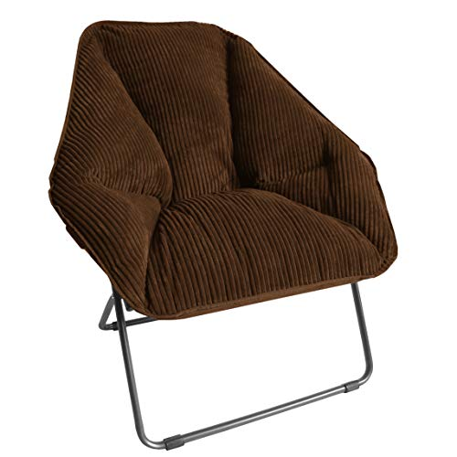 Zenithen Limited Hexagon Folding Chairs (Pack of 1, Brown)