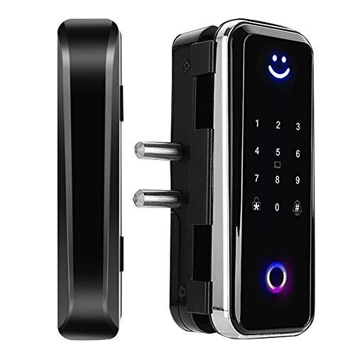 Candado Inteligente con Bluetooth, Cerradura Biométrica Inteligente con Huella Digital | Contraseña Tarjeta IC | Bluetooth | APP | Sistema de Control de Acceso(Negro)