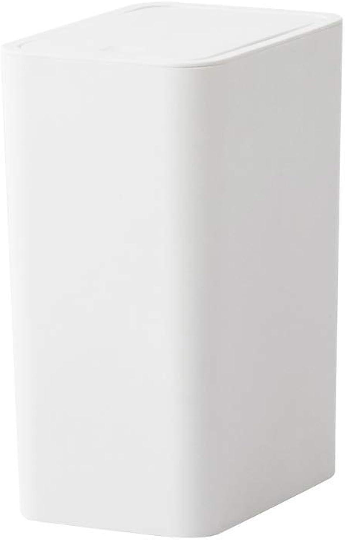 ¡No dudes! ¡Compra ahora! ZXL ZXL ZXL Bote de Basura Tipo de Prensa de plástico con Tapa Hogar Cocina Sala de Estar Dormitorio Bao 21.8cmX15.4cmX30cm  tomamos a los clientes como nuestro dios