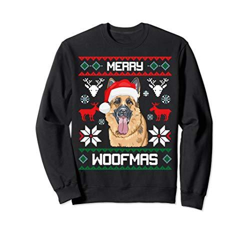 German Shepherd Merry Woofmas Sweatshirt Christmas Dog Gift
