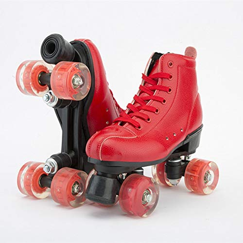 LAYBAY Rollschuhe, Disco Roller, Classic Roller, Rollschuhe Rollschuhe Rollerskates Mädchen Skates Zweireihige Schlittschuhe(35~44)