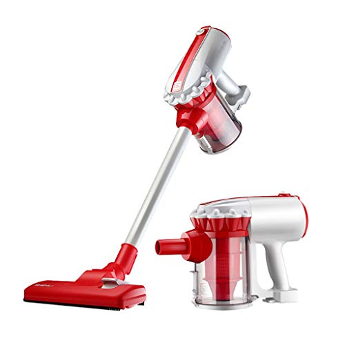 Wireless Steelstofzuiger lichtgewicht lithium batterij en digitale motor 660W LED borstel, draagbare stofzuiger, diepe reiniging, huisdieren eigenaar [Energie klasse A +++] (Color : Red)