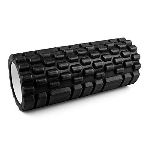 Capital Sports Yoyogi Rollo de Gimnasia (Cilindro de gomaespuma masajeador, 33.5cm, Ideal rehabilitación, liberar tensión, Ejercicio Masaje músculos, Rodillo Color Negro)