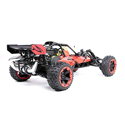 Lingxuinfo 1/5 Scale Gas Truck Gasoline RC Car High Speed Remote Control Off-Road Vehicle with 29cc Gasoline Engine and 2.4G Remote Controller