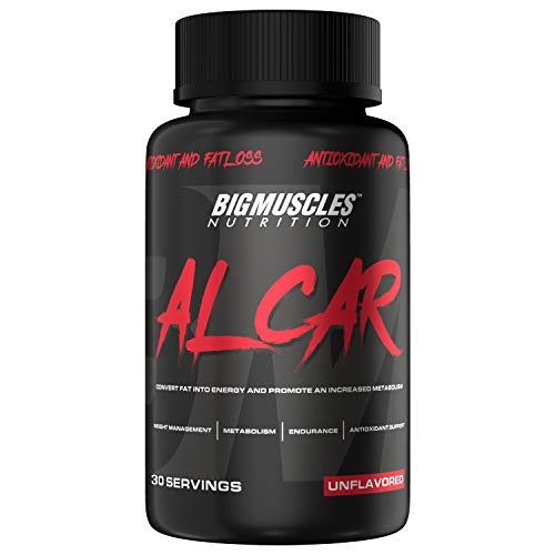 Bigmuscles Nutrition ALCAR (ACETYL L-CARNITINE 1000mg Per Serving) | 30 Servings | Weight Loss | Natural Fat Burner | Muscle Recovery | Memory & Focus – Zero Fillers | Lasts 30 Days