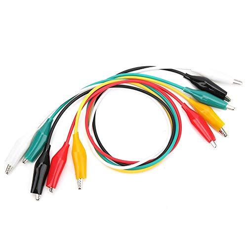 Cable de pinza de cocodrilo de 30 piezas, cable de prueba de doble extremo - Cables de prueba de color - rojo/verde/negro/blanco/amarillo