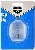 arena Unisex Wettkampf Schwimm Nasenklammer für Profis (Weiche Polsterung), Silver-Black (15), One Size - 2