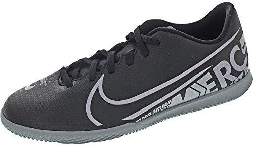 Nike Mercurial Vapor 13 Academy Turf Soccer Shoe (11, Black/Cool Grey/Metallic Cool Grey)