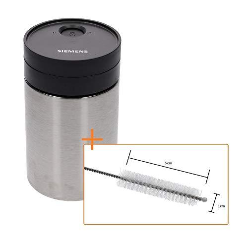 LUTH Premium professionele onderdelenset met reinigingsborstel en Siemens geïsoleerde melkreservoir voor koffieautomaat TZ80009N TZ70009 00576166 EQ7