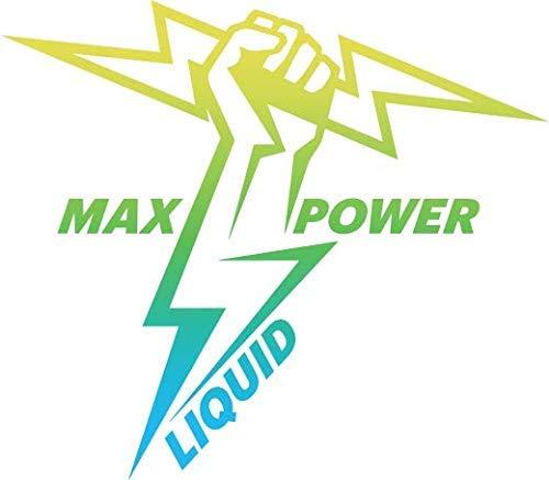Bester der welt MAX POWER LIQUID – Das leistungsstärkste E-Liquid der Welt!  * Kein Nikotin * (Vanillegetränk)