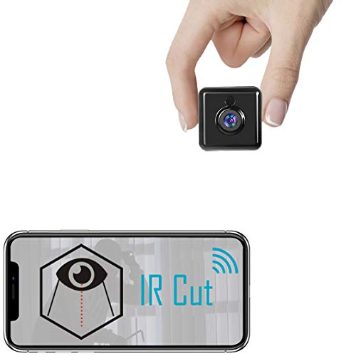 Spy Camera WiFi Hidden Mini Camera - Real 1080P HD Wireless Nanny Cam Portable Indoor Outdoor Security Camera with Phone App, IR Cut, Night Vision, Motion Detection Smallest Cam A22 Pro [2021 Newest]