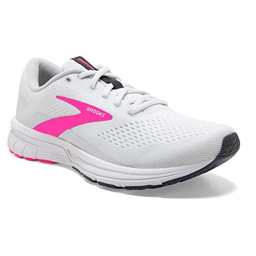 Brooks Women's Signal 3 Running Shoe White/Pink/Ombre Blue 7 B - Medium