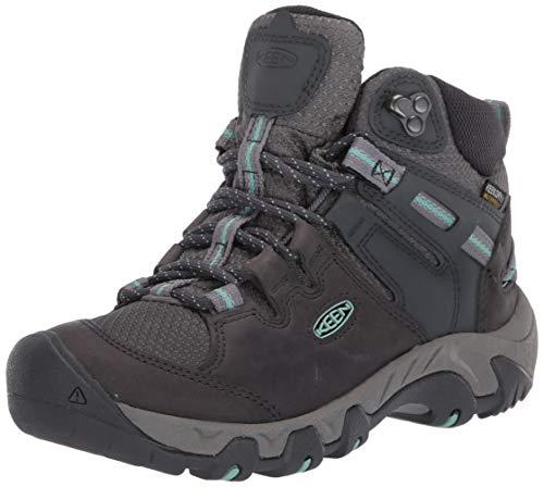KEEN womens Steens Mid Wp Hiking Boot, Black, 5 US