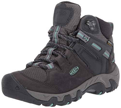 KEEN womens Steens Mid Wp Hiking Boot, Black, 5 US