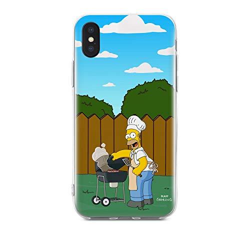Finoo Handyhülle kompatibel für iPhone X/XS - Hülle mit Motiv und Optimalen Schutz TPU Silikon Tasche Case Cover Schutzhülle - Homer Grill Garten
