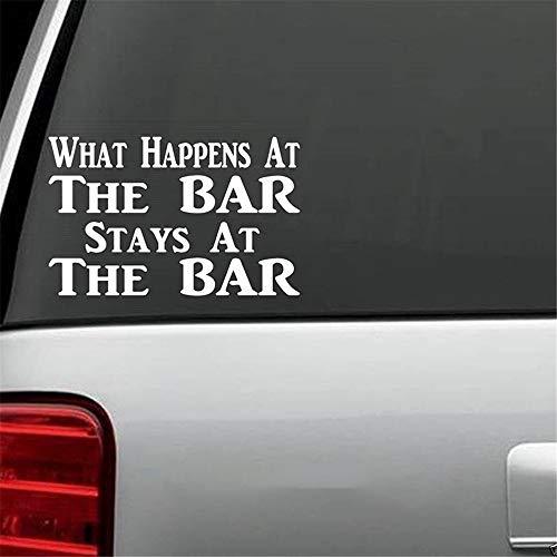 Autosticker Sticker grappige barman sticker auto vrachtwagen bier bar pub wijn mode persoonlijkheid creatieve klassieke auto sticker