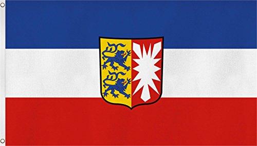 normani TOP QUALITÄT !! Fahne Flagge, Grösse: ca. 90x150 cm, Ordentliche Stoffqualität - Stoffgewicht ca. 110 gr/m2 Farbe Schleswig Holstein