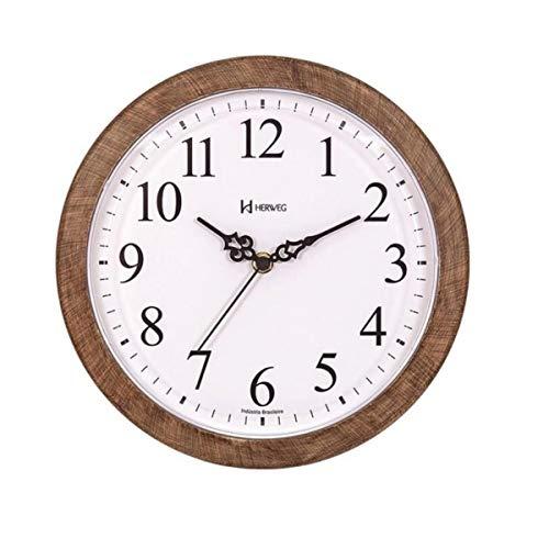 Relógio De Parede Herweg Ref: 660073-323 Amadeirado