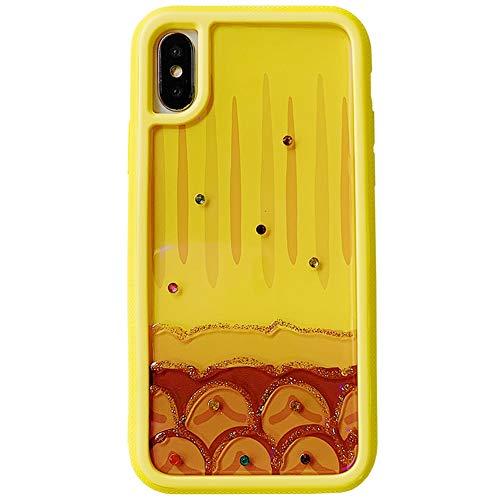 Capa SGVAHY Bling Diamond compatível com iPhone XR, capa traseira de Blu-Ray 3D criativa com design de silicone macio bumper slim fit à prova de choque (abacaxi, iPhone XR)