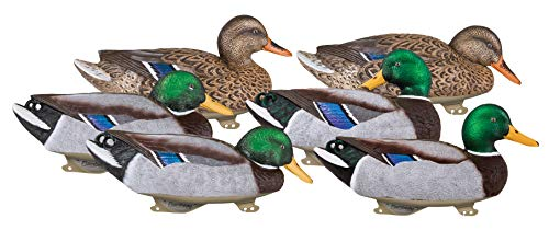 Flambeau Outdoors 1215GSD Gunning Series Mallard Decoys, Classic Floaters - 6-Pack