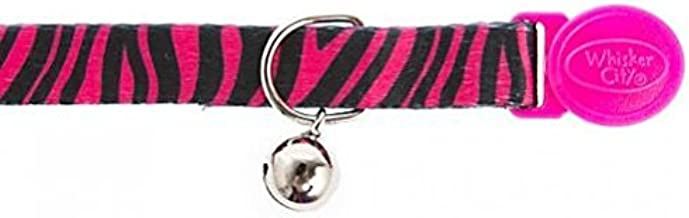 Pink and Black Zebra 1 inch Collar /& Leash