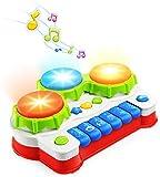 NextX Babyspielzeug Klavier und Trommel Musikspielzeug mit Lichter Geschenk für Baby und Kleinkinder