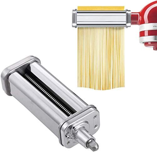 Accessori per taglierina per spaghetti, accessori per fogli di pasta, rullo in lamiera di acciaio inox, per miscelatori di supporto KitchenAid (1, taglierina per spaghetti)