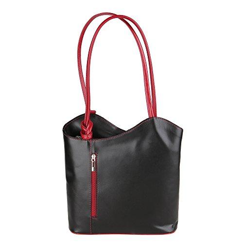 Chicca Borse Shoulder Bag Borsa da Donna a Spalla in Vera Pelle Made...