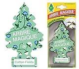Arbre Magique Deodorante per Auto, Profumazione Prolungata fino a 7 Settimane (3 PEZZI, COTTON FIELDS)