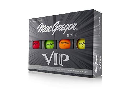 MACGREGOR Golf MACACC004M VIP High Visibility Soft Golfbälle, 12 Stück