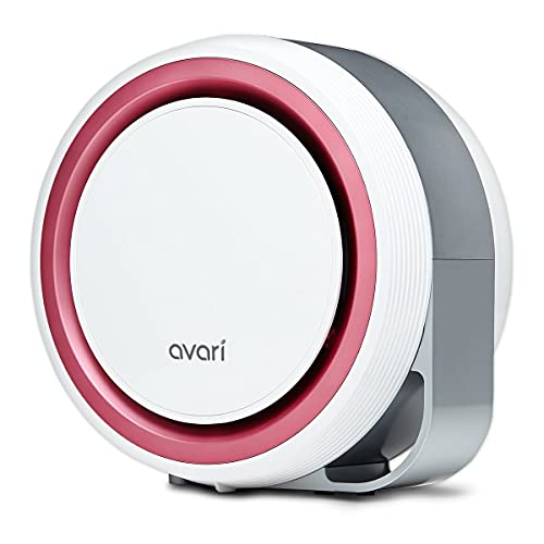 Avari 525-ESF Patented Electrostatic Air Purifier Filters Smoke, Pollen, Pet Dander, Ultra-fine Dust, and VOCs, Filters the Widest Range of Particles Down to 0.1 microns-Pink