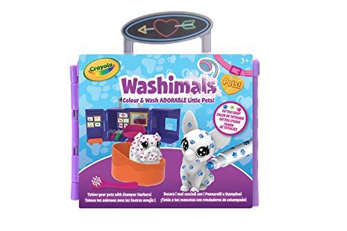 Crayola - Washimals Tatoo Shop - Loisir créatif - washimals - Color N wash - à partir de 3 ans - Jeu de coloriage et dessin