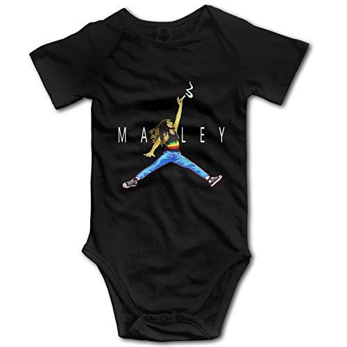 Bob-Marley - Bebé de manga corta para recién nacidos (2T, negro)