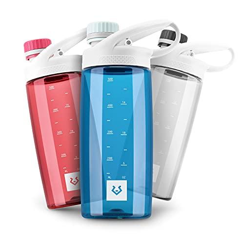 Alphatrail Botella Agua Tritan Luke 550ml Azul 100% Prueba de fugas I sin BPA & Ecológicamente I Seguro Lavavajillas I para el ácido de carbono I Para una óptima hidratación en la naturaleza