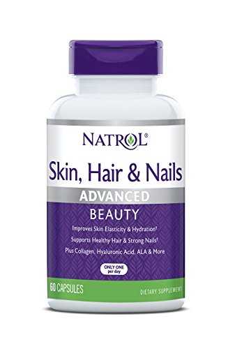 Natrol Skin, Hair and Nails Advanced Beauty Capsules, Packed with Beauty Enhancing Ingredients - 5,000mcg Biotin, 60 Count
