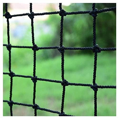 HJRD Outdoor Balcony Protection Net, Nylon Rope Net Black, Children Climbing Safety Net, Stair Anti-fall Net, Garden Fence Net, Cargo Net, Cat Net, Hanging Net 2x3m (Size, 1 * 5m(3 * 16