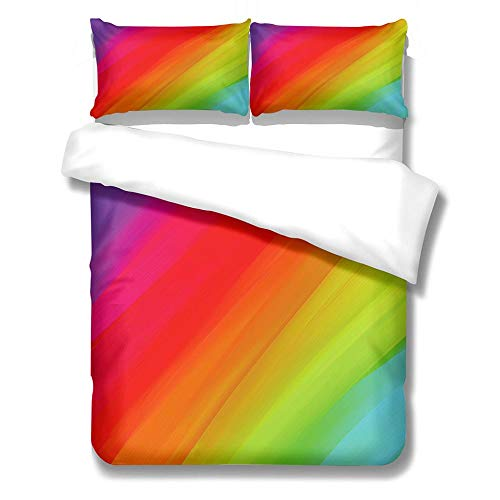 zzqxx Kids Duvet Cover color Print Double Duvet Quilt Cover 78.7 x 78.7 inchs Bedding Set Hypoallergenic Polyester Zippered Revrsible with 2 Pillowcases Ultra Soft