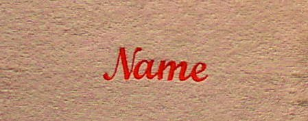 beige Sauna Handdoek met lightred borduurwerk van uw naam