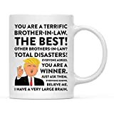 Andaz Press Funny President Donald Trump 11oz. Coffee Mug Gift, Terrific Brother-in-Law, 1-Pack, Hot...