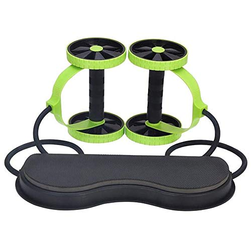 Glomixs Fitness Wheels Roller, Elastic Abdominal Muscle Resistance Pull Rope for Training Exercise Home Gym Equipment for Both Men & Women, Multi-Functional Core AB Workout Abdominal