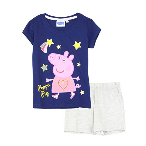 Peppa Pig - Pijama de Manga Corta Azul Azul 8 años
