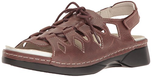 Propet Women's Ghilliewalker Platform Dress Sandal, Brown, 7.5 M US